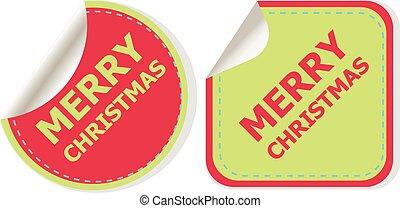 幸せ, web ページ, banner., テンプレート, アプリケーション, クリスマス, ベクトル, デザイン, 新しい, year., 休日, モビール, 陽気, icon., 背景, イラスト, infographic, 創造的, 概念