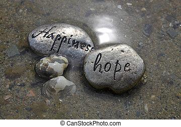 幸福, 希望, 岩