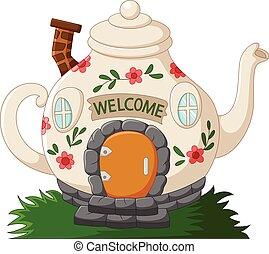 幻想, 茶壺, 房子, 卡通