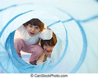 幼稚園, 女の子, 2, 遊び