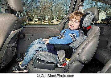幼稚園, 年齢, 男の子, 中に, a, ブスターの座席