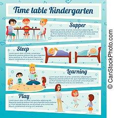 幼稚園, 特徴, infographics