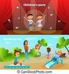 幼稚園, compositions, 特徴