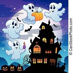 幽霊が出る家, シルエット