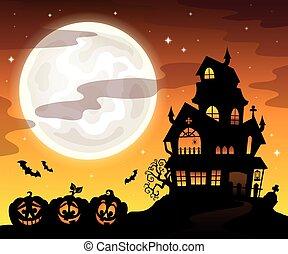 幽霊が出る家, 主題, シルエット