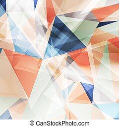 幾何学的なデザイン, カラードの背景