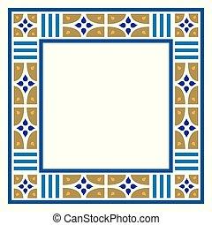 幾何学的な ボーダー, アラベスク, フレーム