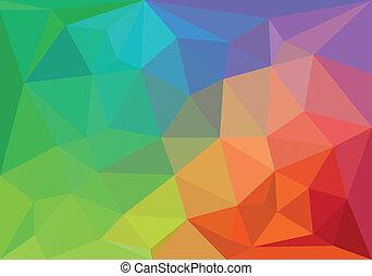 幾何学的, カラフルである, 背景