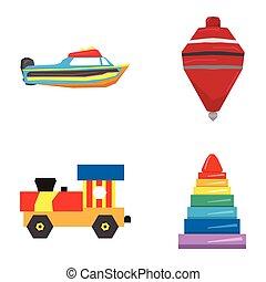 幾何学的, セット, おもちゃ
