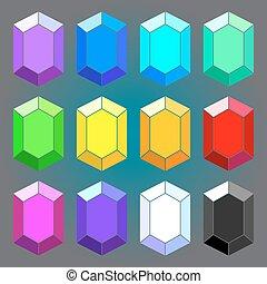幾何学的, セット, ダイヤモンド