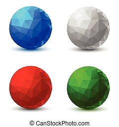幾何学的, セット, balls.