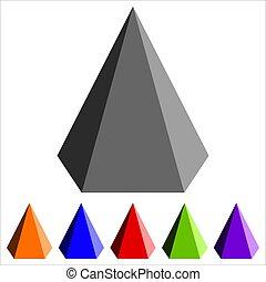 幾何学的, ピラミッド形