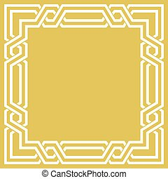 幾何学的, ブランク, フレーム, アラベスク, ボーダー
