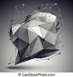 幾何学的, ベクトル, 抽象的, 3d