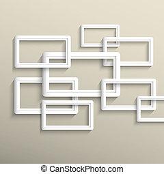 幾何学的, ベクトル, 背景, 3d