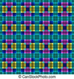 幾何学的, ベクトル, pattern., art.