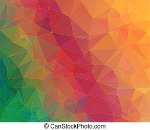 幾何学的, 三角形, カラフルである, 背景