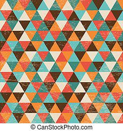 幾何学的, 三角形, seamless, 背景