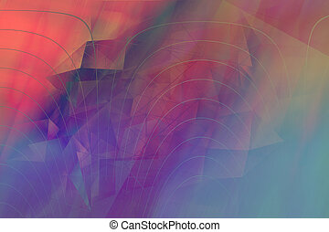 幾何学的, 抽象的, 夢のようである, 背景, 多色刷り