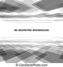 幾何学的, 抽象的, 背景, 3d