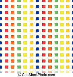 幾何学的, 正方形, 偉人, 背景, バックグラウンド。, pattern., raster, 虹, seamless, ベクトル, プロジェクト, 手, 緑, 黄色, diagonal., ペーパー, 引かれる, 赤, 抽象的, 青, squares., オレンジ, fabric., 白