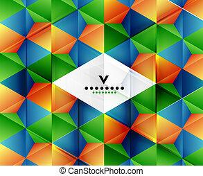 幾何学的, 現代, 抽象的, 背景, テンプレート