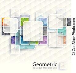 幾何学的, 立方体, 背景