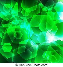 幾何学的, 緑