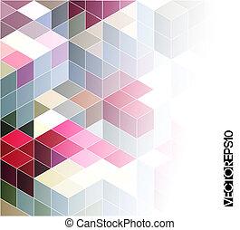 幾何学的, 背景, 抽象的, カラフルである