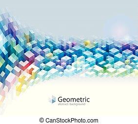 幾何学的, 色, パターン, 抽象的, バックグラウンド。