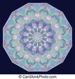 幾何学的, 虹色, ラウンド, 背景