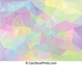 幾何学的, 虹色, 背景