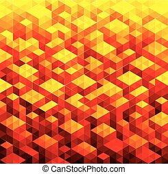 幾何学的, 赤い背景