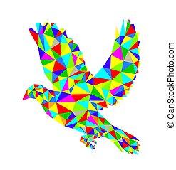 幾何学的, 飛行, 鳩