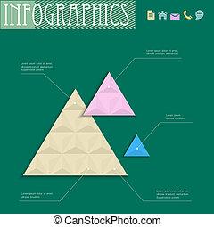 幾何学的, 3d, デザイン, テンプレート, infographics