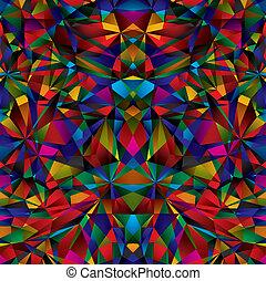幾何学的, pattern., seamless, 表面