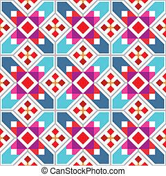 幾何学的, seamless, パターン
