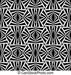 幾何学的, seamless, 芸術, オペ, texture.