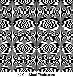 幾何学的, seamless, 芸術, オペ, texture., pattern.