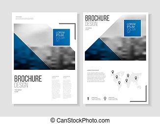 幾何学的, template., ビジネス, cover., ベクトル, 年報, design., a4, パンフレット...