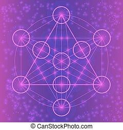 幾何学, シンボル, 神聖, elements.