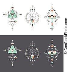 幾何学, 不明瞭である, 種族, aztec, シンボル, 神聖, 神秘主義者, 形, 錬金術