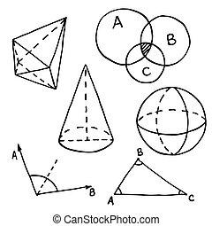 幾何学, 概説された, doodle.