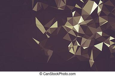 幾何学, poly, 背景, 三角形, 低い, 抽象的