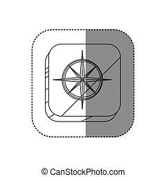 广场, 侧面影象, 升高, 屠夫, 指南针, 按钮
