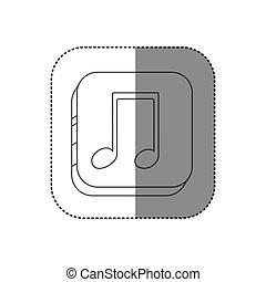 广场, 侧面影象, 屠夫, 音乐的笔记, 按钮, 轮廓
