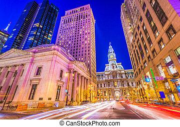 広い, フィラデルフィア, 通り, ペンシルバニア, アメリカ