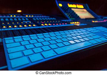 広い 角度, 専門家, オーディオ, 混合, board/, コンソール