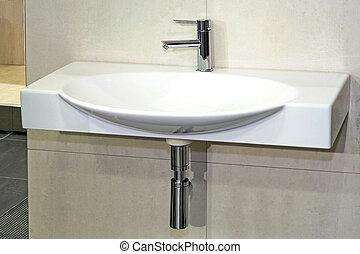 広く, 洗面器
