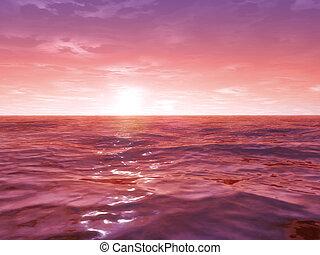広く, 海洋